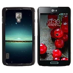 Be Good Phone Accessory // Dura Cáscara cubierta Protectora Caso Carcasa Funda de Protección para LG Optimus L7 II P710 / L7X P714 // Lake & Stars