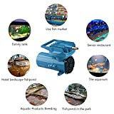 HEALiNK DC 12V 80LPM/Min Aquarium Air Pumps Aquaculture Fish Poods Pressure Compressor Aerator