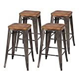 New Pacific Direct 938627-GM Metropolis Backless Counter Stool,Set of 4 Furniture, Gunmetal Grey Review