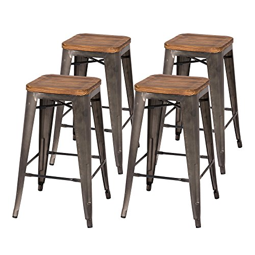 New Pacific Direct Metropolis Backless Counter Stool 26