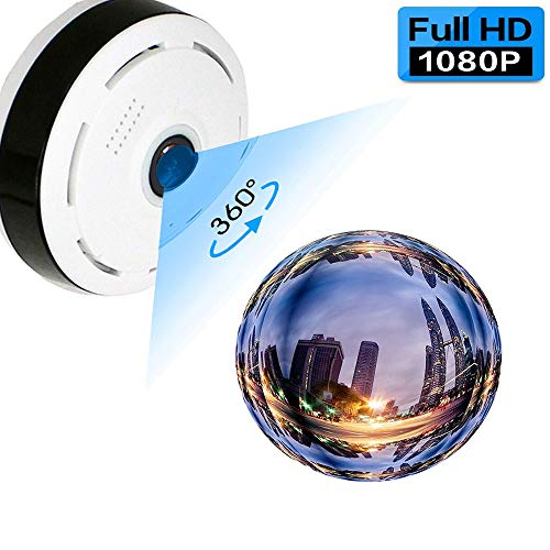Cheap Fisheye Panoramic IP Camera,Anweer 1080P Home Security Camera 360 Degree Wireless Surveillance Camera Baby Pet Monitor with Cloud Storage Motion Detection Two-Way Audio Night Vision