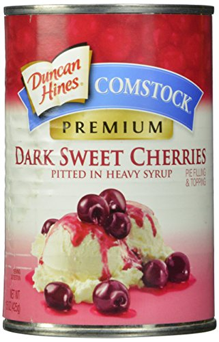 Comstock Pie Filling & Topping, Dark Sweet Pitted Cherries,