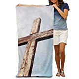 TRUSKC Old Rugged Cross Christian Stock Custom Made 100% Polyester Soft Beach Towel(31'' 51''), Quick Dry Super Absorbent Beach Towel For Men Or Women