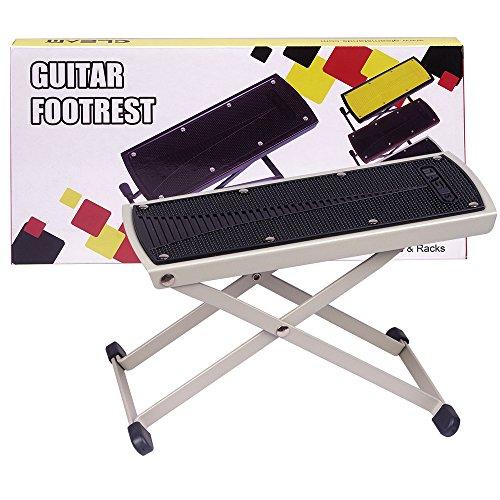 UPC 709886674489, GLEAM Guitar Foot Rest, Stool, Footrest (White)