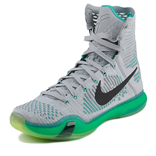 online store 51446 6b6af Galleon - Nike Kobe X Elite (Elevate) Wolf Grey White Light Retro (10)
