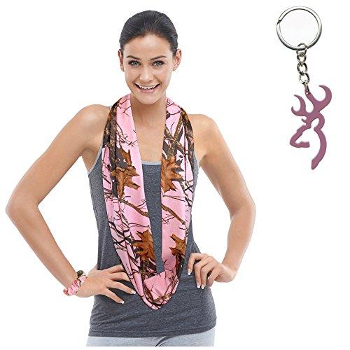 Mossy-Oak-Pink-Camo-Infinity-Scarf-Browning-Buckmark-Keychain