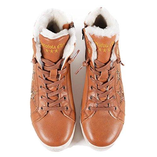 PANTOFOLA D ORO Damen Sneaker 1 High Stafania Hellbraun Größe 37