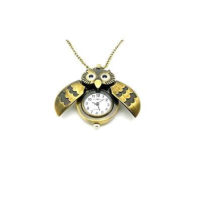 Worldtree fashion vintage bronze style owl pendants long chain worldtree fashion vintage bronze style owl pendants long chain necklace watch amazon jewellery aloadofball Gallery