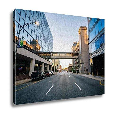 Ashley Canvas, Modern Buildings And Friendly Avenue In Downtown Greensboro No, 20x25, - The Center Greensboro Friendly