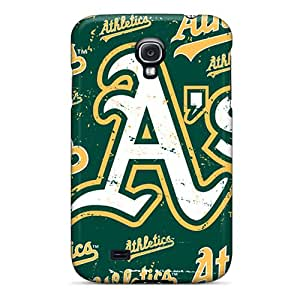 Scratch Protection Cell-phone Hard Covers For Samsung Galaxy S4 (fGb7126DsYb) Unique Design Beautiful Oakland Athletics Series
