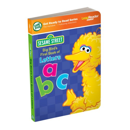 LeapFrog LeapReader Junior Book: Sesame Street Big Bird's First Book of Letters (Street Tags)