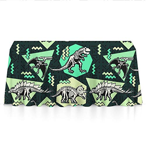 (NiYoung Dinosaur Bones Rectangular Table Cloth Polyester Waterproof Wrinkle Free Tablecovers - Seasonal Decor, Trade Show, Restaurant, Dinner Parties Table Toppers)
