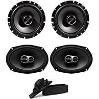 Alpine SPS-610 6-1/2 2-Way Type-S Series Coaxial Car Speakers and Alpine SPS-619 Type S 6x9 3-way car speakers Free Decorative Collectible Statue