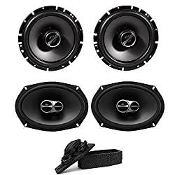 "Alpine Sps-610 6-12"" 2-way Type-s Series Coaxial Car Speakers & Alpine Sps-619 Type S 6""x9"" 3-way Car Speakers Free Decorative Collectible Statue"