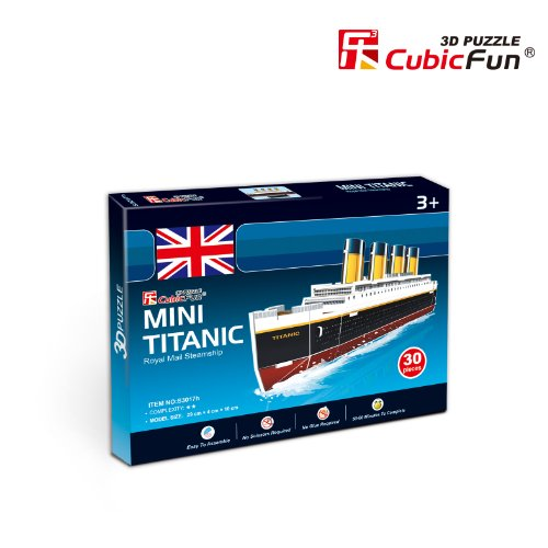 Lelifang mini 3D stereoscopic model diy house paper model S3017H Titanic