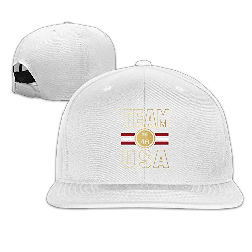 Unisex Team USA Stripe Medal 46 Gold Medals Olympics Flat Bill Hat Baseball Cap
