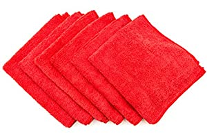 "Dry Rite Premium Microfiber Cloth - Pack of 6 Best Cleaning Towels for Fine Automobile finishes, Car Windows & Interiors- Great for Glass- Non Scratching, Streak Free- Use Wet or Dry- 16"" x 16"""
