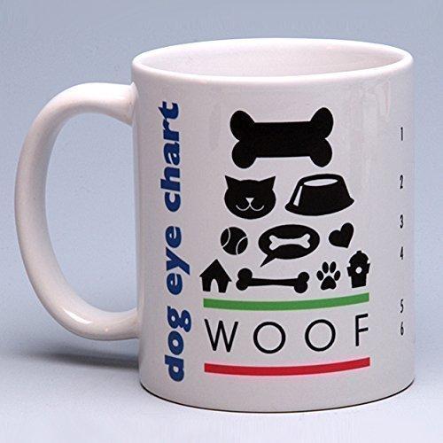 11 oz. Personalized Whimsical Ceramic Dog Eye Chart Coffee/Tea Mug ~ perfect for a dog or pet ()