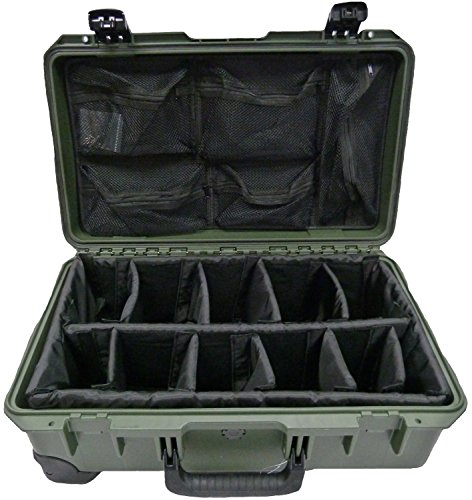 Pelican iM2500 OD Green with padded dividers & 1519 Lid Orga