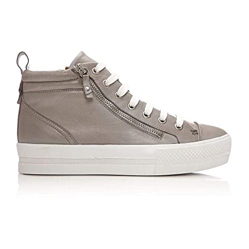 b325bb66d42 Moda In Pelle Adao Light Grey Leather  Amazon.co.uk  Shoes   Bags