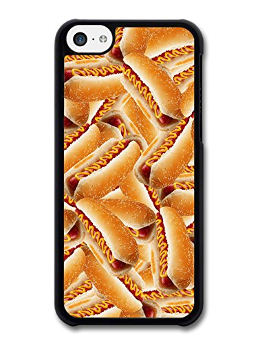 Cool Food Pattern Collage with Hot Dogs Funny Gross Grunge Goth case for iPhone 5C