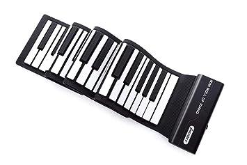 Piano Portátil Flexible De 88 Teclas Con Teclado Suave USB Plegable, Enviar Un Pedal De