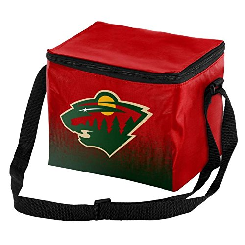 fan products of NHL Hockey Team Logo - Gradient Print - Lunch Bag Cooler - Holds up to a 6 Pack(Minnesota Wild)