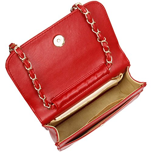 Bmc Handbag Mini Pu Quilted Leather Womens Cherry Clutch Diamond Solid Color Pattern qqZrTx6zw