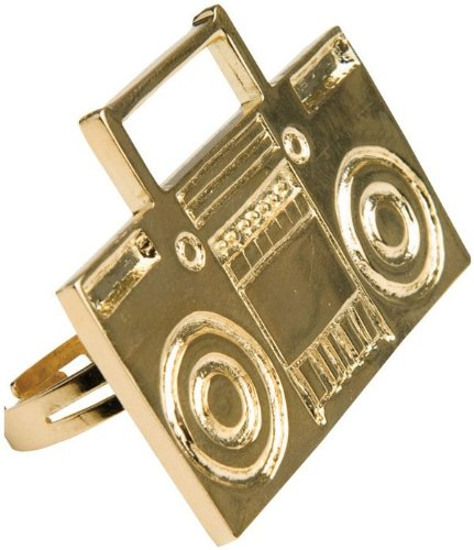 The Rapper Game Halloween Costume (Rubie RUB8883ACC Costume Old School Boom Box Ring)