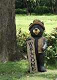 Bear Standing With Welcome Sign