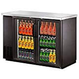 Appliances : SABA Narrow Glass Door Back Bar Cooler with Stainless Steel Top and LED Lighting