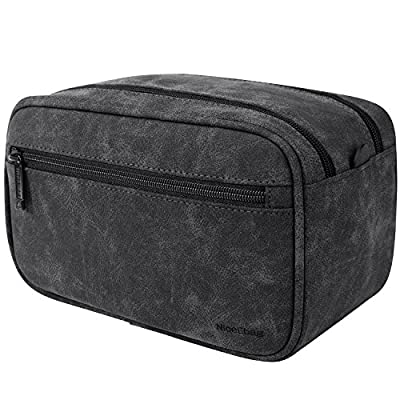 351976816a49 NiceEbag Leather Toiletry Bag Water-Resistant Travel Toiletry Organizer  Portable Hanging Makeup Bag Dopp Kit