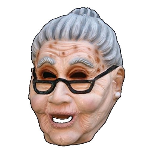 [Grandma Old Woman Mask] (Old Grandma Costumes)