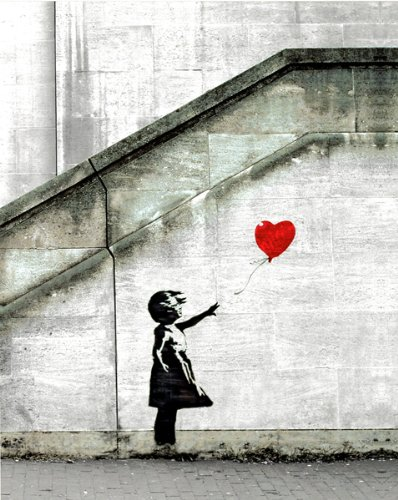Poster Print Banksy Graffiti Red Balloon