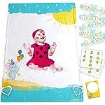 Nonidoo-Baby-Milestone-Blanket-for-Girls-Boys-Milestone-Blanket-Super-Soft-Fluffy-Fleece-Large-Toddler-Blanket-Baby-Shower-Baby-Registry-Gift