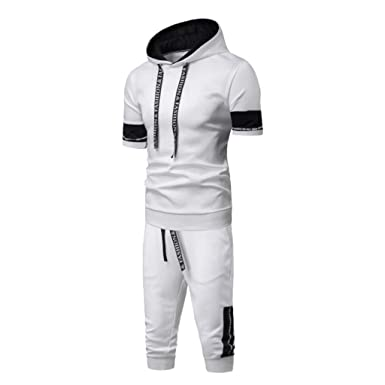 Holataa Chandal Hombre Verano Camiseta con Capucha + Pantalones ...