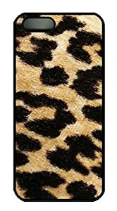 Protective PC Case Skin for iphone 5 Black Fashion Plastic Case Back Cover Shell for iphone 5S with Leopard