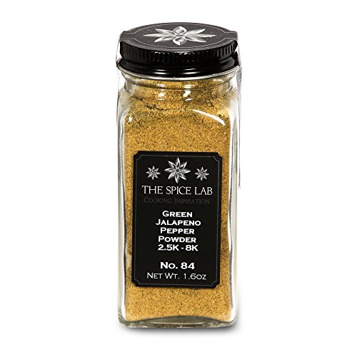 The Spice Lab No. 84 - Green Jalapeno Pepper Powder, French Jar - All Natural Kosher Non GMO Gluten Free