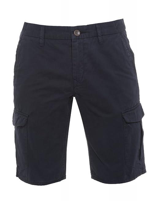 294a47920 BOSS Hugo Orange Shorts, Navy Blue Regular Fit 'Schwinn 3 Shorts-D' Cargo  Shorts: Amazon.co.uk: Clothing