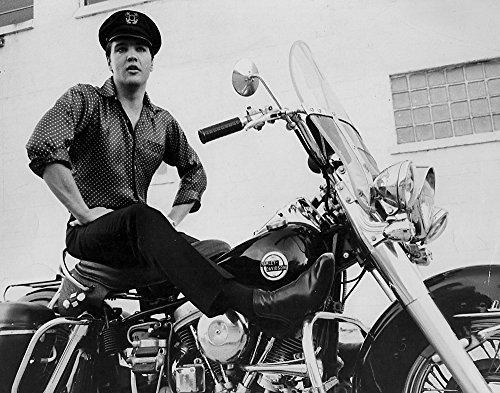 Posterazzi Elvis Presley on a Motorcycle Photo Print (30 x -