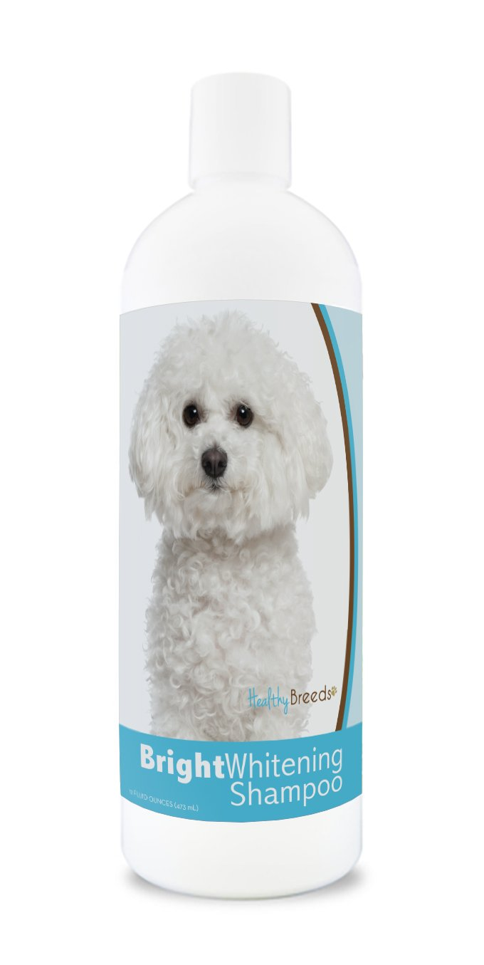 Healthy Breeds Dog Whitener Shampoo for Bichon Frise For White, Lighter Fur – OVER 150 BREEDS – 12 oz With Oatmeal For Dry, Itchy, Sensitive, Skin – Moisturizes, Nourishes Coat