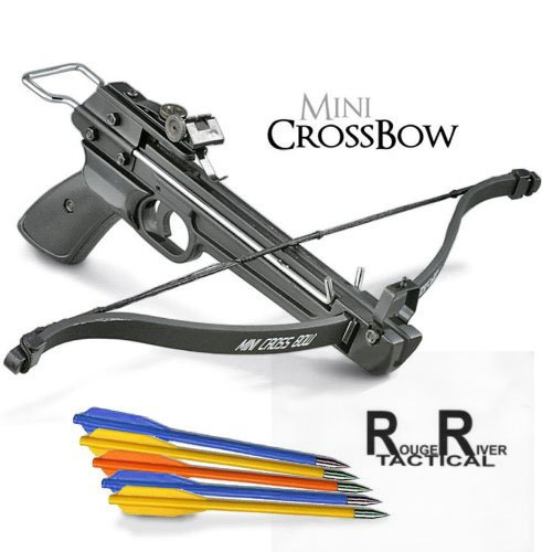 Rogue-River-Tactical-50lb-Mini-Crossbow-Pistol-Hand-Held-Archery-Hunting-Cross-Bow-with-29-Arrows
