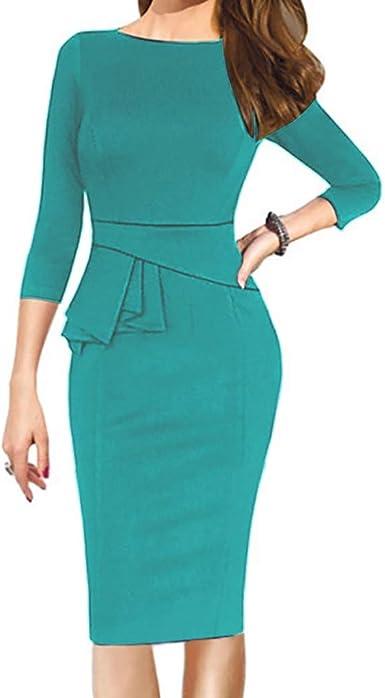Vestiti Eleganti Invernali.Longra Vestiti Donna Bodycon Mini Vestito Elegante Abito Da