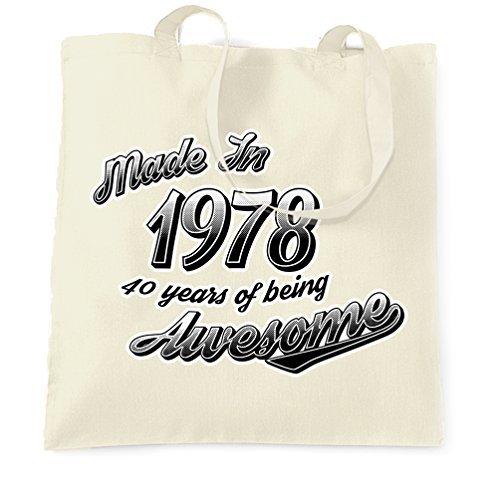 Bolsa de la compra de lona para el 40 cumpleaños, hecha en ...