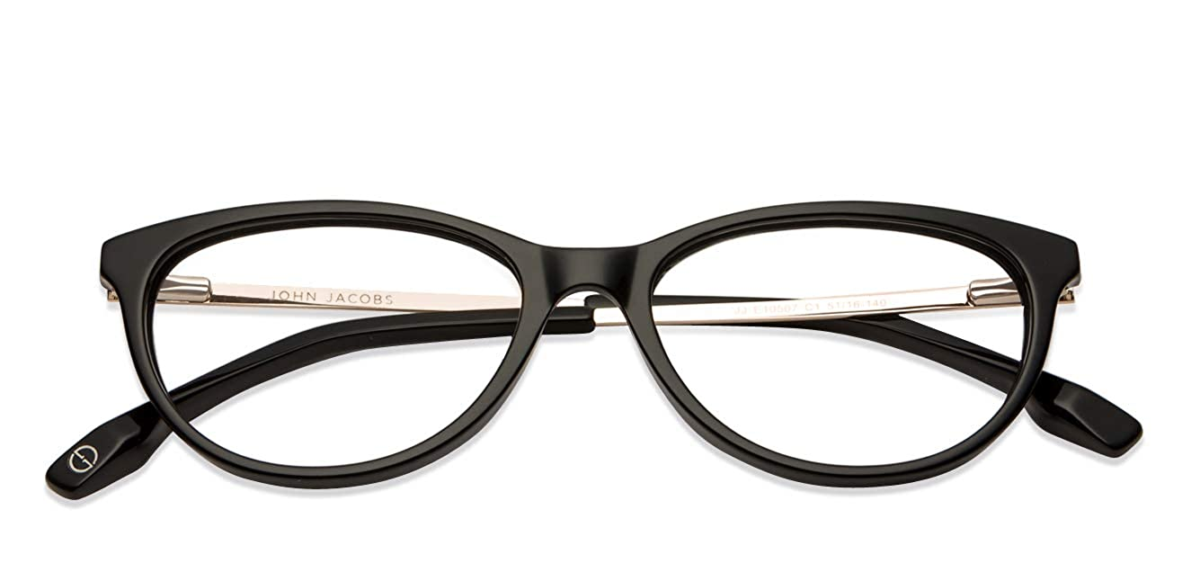 8b3feeca88 John Jacobs Black Full Rim Cat Eye Unisex Eyeglasses (120450
