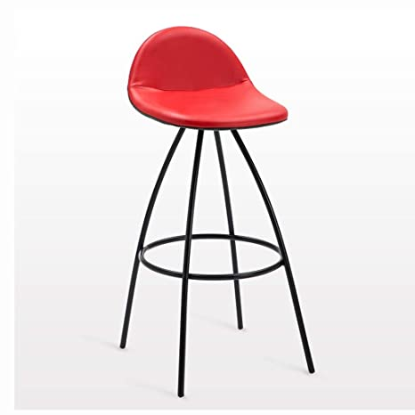 Excellent Amazon Com Barstools Bar Stool With Backrest Leather Metal Uwap Interior Chair Design Uwaporg