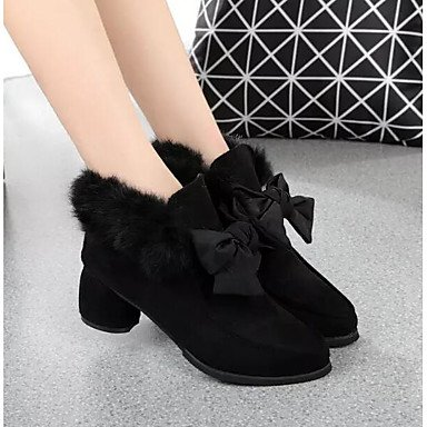 Shoes Casual Comfort Black Pu US8 For Winter Fashion UK6 Fall CN39 Boots Women'S Khaki RTRY EU39 Boots f5vwUxAq