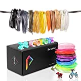 Pxmalion PLA 3D Filament, 1.75mm Printing Refills, Each 40 Feet, 24 Colors Print
