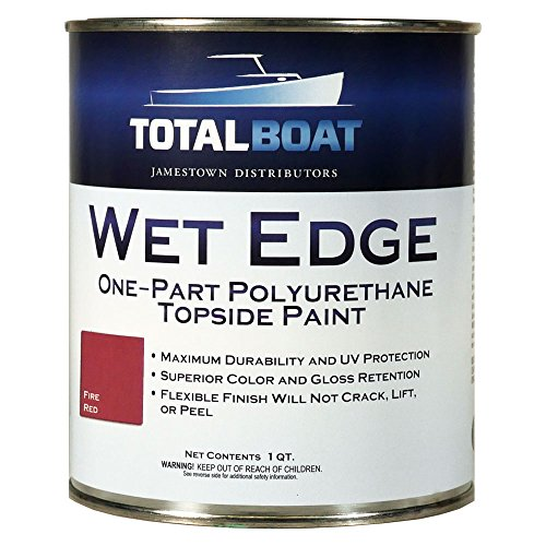 TotalBoat Wet Edge Topside Paint (Fire Red, Quart) (What Is Very Good Condition)