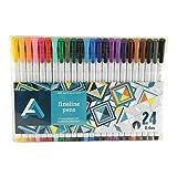 Art Alternatives Fine Liner Pen Set/24, Multicolor